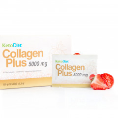 KetoDiet Collagen Plus 5000 mg – príchuť jahody